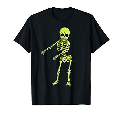Floss Dance Skeleton T Shirt Halloween Kids Boys Flossing -
