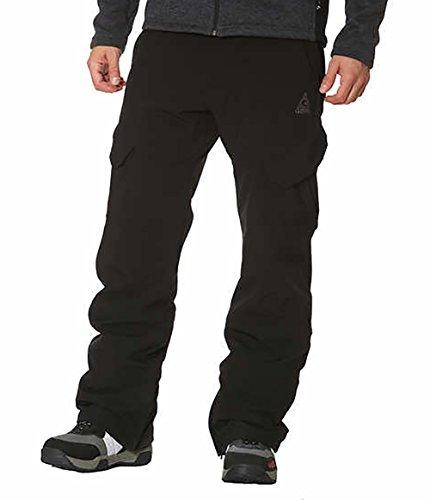 Gerry Men's Snow-tech Pants Boarder Ski Pant 4 Way Stretch (Black, Medium) - Snowboarding Pant Field