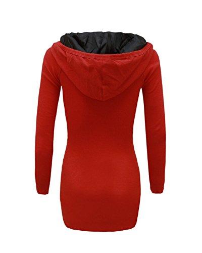 Generation Fashion - Sudadera con capucha - para mujer Rosso