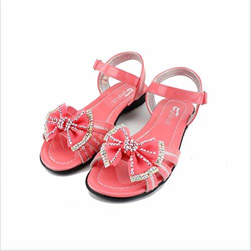 ZGSX zapatos de las sandalias del verano princesa de las muchachas de los nuevos niños se inclinan las sandalias de las sandalias de los niños respirables A