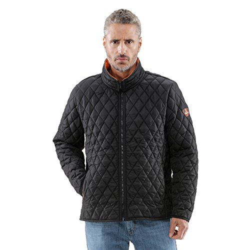 - RefrigiWear Men's Lightweight Warm Insulated Diamond Quilted Jacket (Black, 4XL)