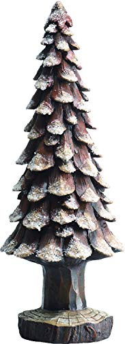 (Transpac Imports D0673 Large Resin Pine Cone Snow Tree Figurine Green)