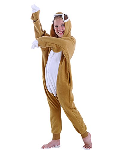 cosMonsters Kids Pajamas Onesie Cosplay Animal Sloth Costume ()