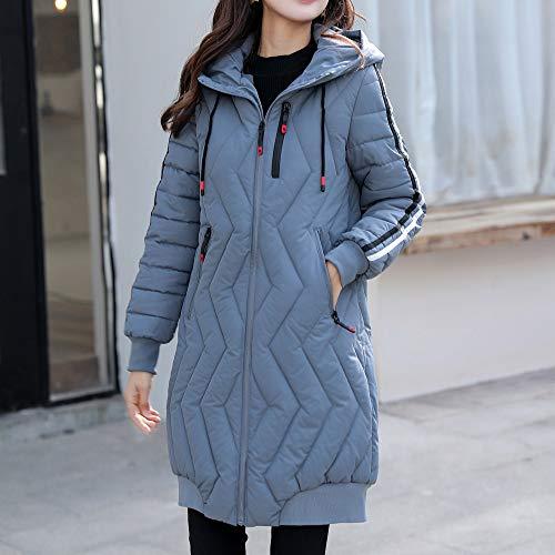 Slim Manteaux femmes Fit Feixiang Manteau Sweat et section avec long trench coat pour Jacket en pour centrale d'hiver bleu Veste coton d'hiver un une Parka épaissie chaude femmes 1wnEBrwxtq
