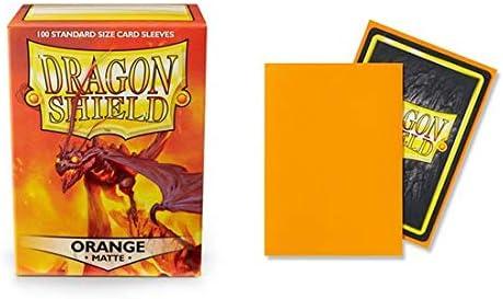 100 bustine protettive Dragon Shield Matte Orange
