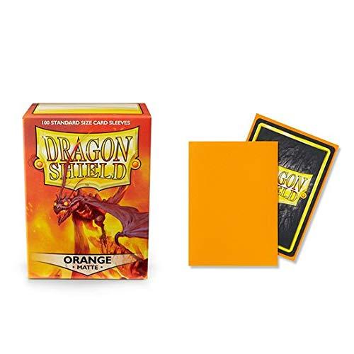 Dragon Shield Matte Orange Standard Size 100 ct Card Sleeves Individual Pack (Orange Matte)