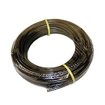 """ATP Value-Tube LDPE Plastic Tubing, Black, 3/8"""" ID x 1/2"""" OD, 100 feet Length"""