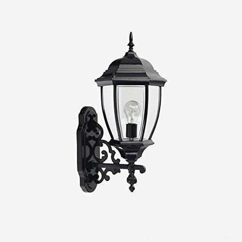 KMYX American Country Style Lámpara de Pared al Aire Libre Lámpara a Prueba de Agua Jardín Luz de Calle Entrada al Aire...