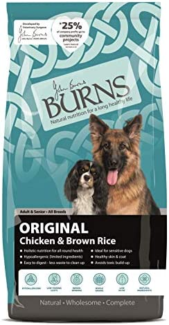 Burns Pet Nutrition Hypoallergenic Complete Dry Dog Food Adult and Senior Dog Original Chicken and Brown Rice 12 kg – Dogs Corner