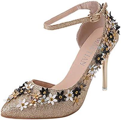 Btruely Zapatos de Mujer❤️Zapatos Puntiagudos de Mujeres Zapatos de tacón  Alto Zapatos Deportivos Zapatillas para Trabajo Zapatos Oxford  Amazon.es   ... 930a775cf8f6