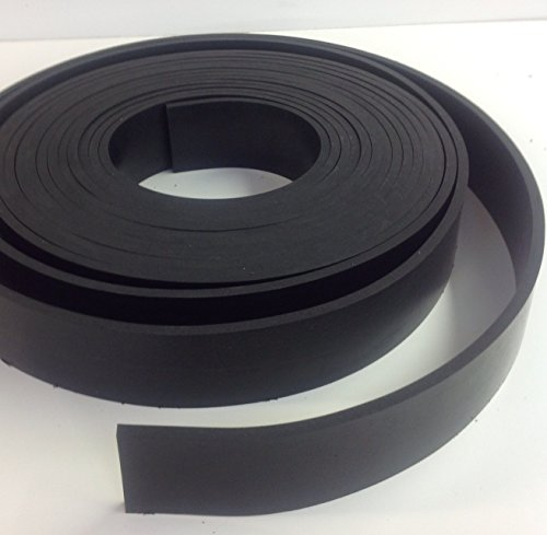 Neoprene Rubber Commercial Grade 65 A+/-5 .125'' Thick x 3'' Wide x 10' Feet Long by Rubber Sheet Warehouse