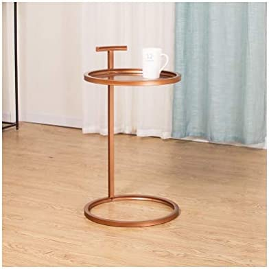 Mode-Stijl Modern Coffee Table Round Coffee Table Metal Corner Frame Bank In De Woonkamer Kleine Side Table 4.14 UcKR83f
