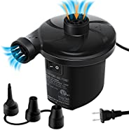 Electric Air Pump,Chefic Air Pump for Inflatable, Portable Quick-Fill Inflator & Deflator Electric Pump wi