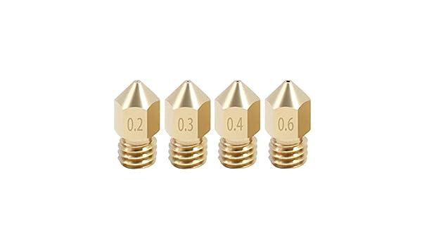 Boquillas de cobre 5 uds MK8 para piezas de impresora 3D 0,2/0,3/0 ...