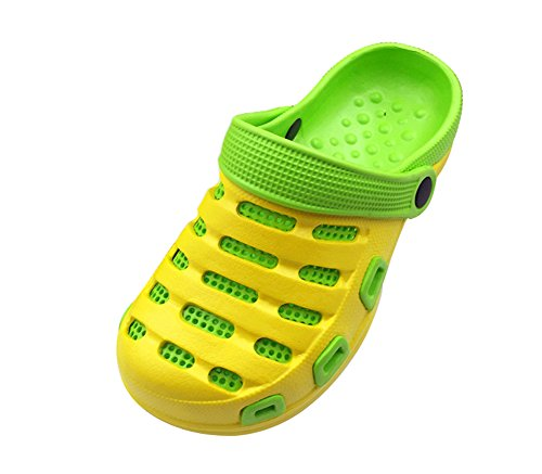 Genda 2Archer Unisex Casual Beach Clogs Sandals Injected EVA Slipper Shoes Yellow Green jEfUfFxi7D