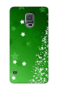 Ultra Slim Fit Hard Chapiterq Case Cover Specially Made For Galaxy S5- Sparkling Christmas Tree