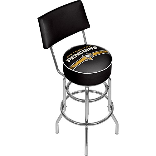 Trademark Gameroom NHL Pittsburgh Penguins Swivel Bar Stool with Back