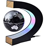 Globe Toy, iTECHOR High Rotation Magnetic Suspension Globe with LED Lights for Learning Education and Home Office Decoration - Black