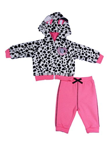 Disney Infant Girl 2 PC 101 Dalmations Puppy Dog Jacket Pants Baby Hoodie ()