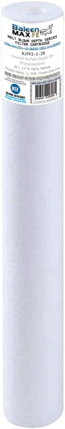 Watts FPMB1-20 25-Pack of Baleen Filters 20 x 2.5 1 Micron Depth Sediment Filter Cartridge Replaces Hydronix SDC-25-2001 Pentek PD-1-20