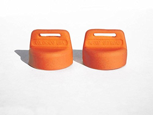 Aloop - Color Coded Silicone Rubber Ignition Key Covers for Polaris ATVs and Side-by-sides, Replaces 5433534 - Pack of 2 - Orange