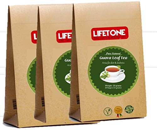 Guava Leaf Tea |100 % Natural from Tropic | Detox Tea for weight loss | 60 Teabags (Best Green Tea For Weight Loss Uk)