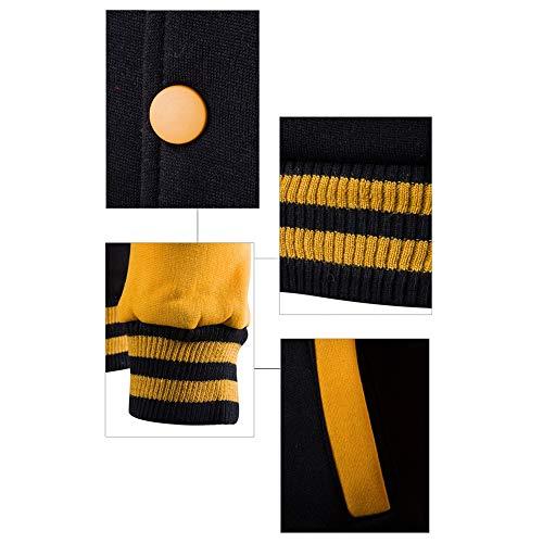 Cappotto Uniforme Da Lunghe Maniche 7 Bozevon Tuta Contrasto Uomo Con Inverno Colore Casuale A Baseball Cappuccio Patchwork Stile fg00Rq