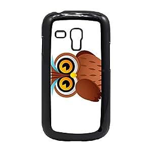Case Fun Case Fun Owl Cartoon Snap-on Hard Back Case Cover for Samsung GalaxyS3 Mini (I8190)