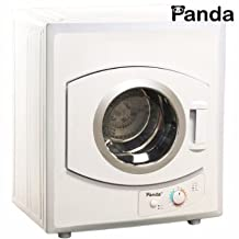 Panda Portable Compact Cloths Dryer Apartment Size 110v stainless Steel Drum See Through Window8.8lbs Capacity/2.65 cu.ft PAN40SF