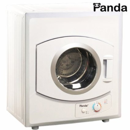 Panda Portable Compact Cloths Dryer Apartment Size 110v stainless Steel Drum See Through Window8.8lbs Capacity