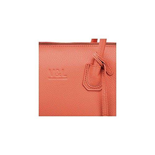 Victorio & Lucchino Bolso de Mujer Satchel 10370 Piel Coral