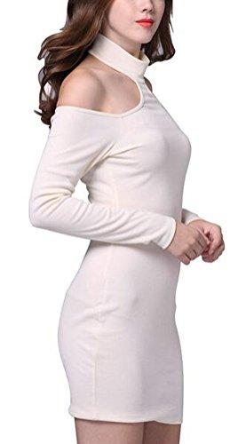 SunIfSnow - Camisón - ajustado - Básico - Manga Larga - para mujer blanco