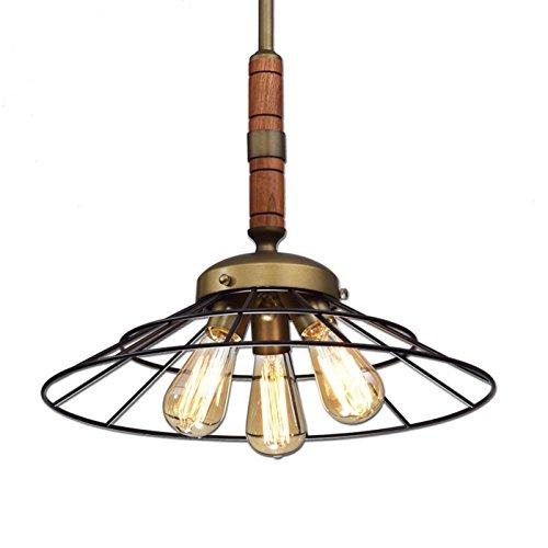 Ecopower Vintage Metal & Wood Chandeliers Kitchen Pendant Lighting Fixture