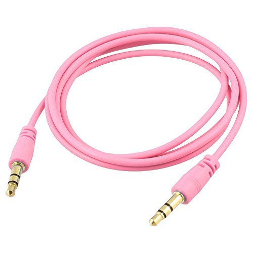 niceeshop Pink 3.5mm M/M Stereo Audio Aux Cable Cord For iPod Computer PC