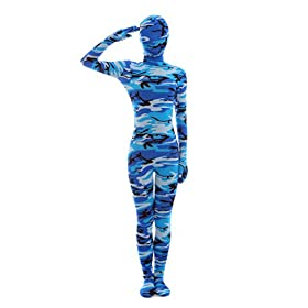 - 41OnsUCcxpL - Nedal Halloween Costumes For Women Camouflage Zentai Lycra Spandex Bodysuit Navy