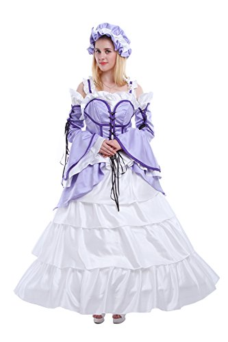 Nuoqi Sweet Lolita Anime Girl Chi Purple Maid Outfits Cosplay Customized (Sumomo Chobits Costume)