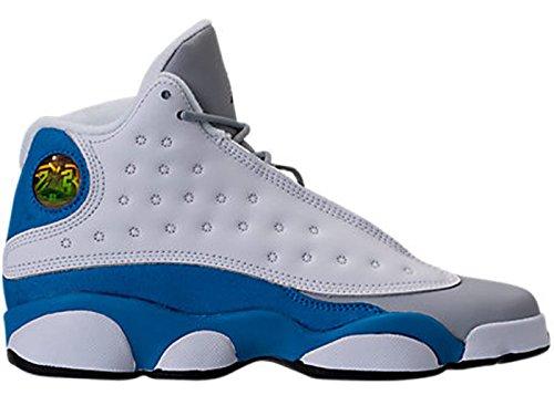 Jordan Retro 13'' Italy Blue White/Italy Blue-Wolf Grey (Big Kid) (6 M US Big Kid) by NIKE