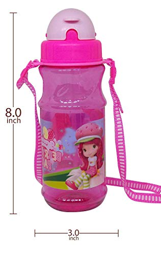 AASA Unbreakable Sipper Water Bottle for Kids for School and Picnic Use Pink Pack of 1 (Water Bottle)