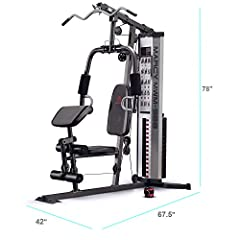 Experience a complete body workout without even having to leave the sweet comforts of home! This heavy-duty home gym system comes with loads of features to help you sculpt the body you've always wanted…and then some! This home gym system is m...