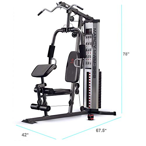 Marcy Multifunction Steel Home Gym 150lb Stack MWM-988 (Best Lat Exercises At Home)