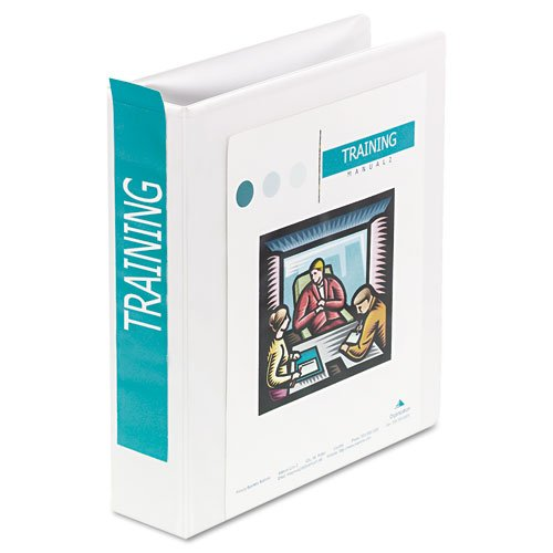 International A4 Size 4-Ring View Binder, 2'' Capacity, White, Sold as 1 Each 2' Capacity White