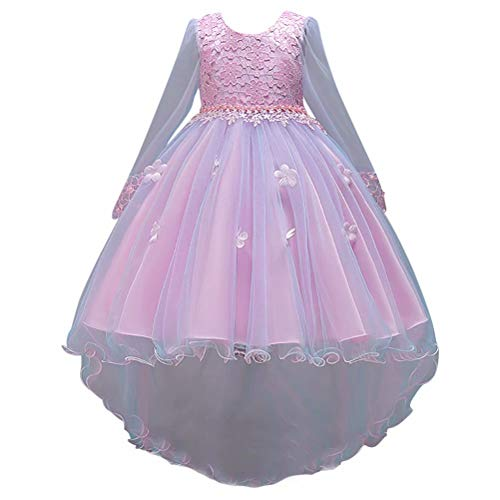 Princess Gowns Style Prom (Lilibridal Flower Girl Dress 2-12 Year Old Multi Style Princess Dresses Pageant Wedding Party Prom Ball Gowns 009)