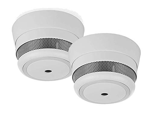 Smart Additional Mini Smoke Detector for Smart Home PRO Series Pack of 2 with Replaceable 5-Year Battery