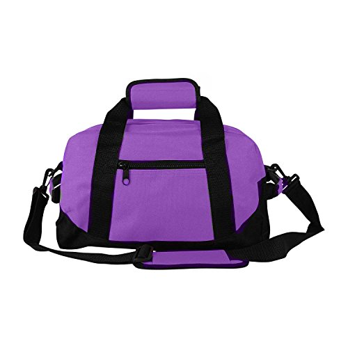 "14"" Small Duffle Bag Two Toned Gym Travel Bag (Purple)"