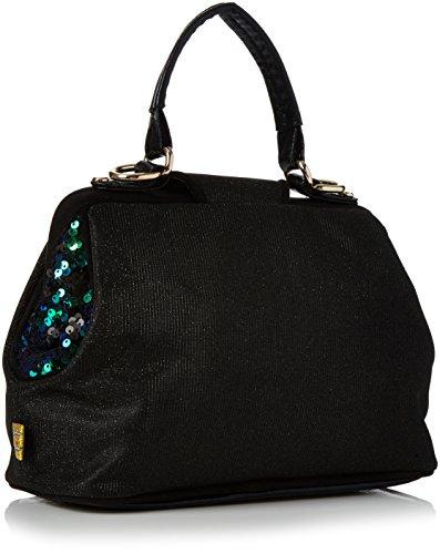 Irregular Choice Honey Suckle Bag - Borse a mano Donna, Black, 12x19x28 cm (W x H L)
