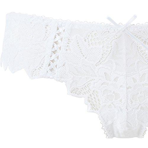 Lepel - Culotte para mujer blanco