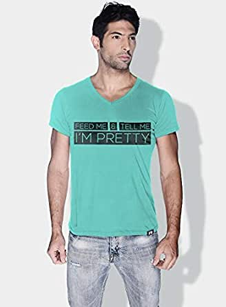 Creo Feed Me And Tell Me Funny T-Shirts For Men - L, Green