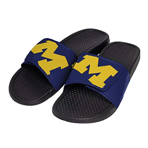 NCAA Michigan Wolverines Mens CROPPED BIG LOGO SLIDEMICHIGAN CROPPED BIG LOGO SLIDE - MENS - LARGE, Team Color, L