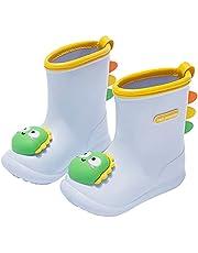Panegy Unisex Kids Rain Boots Boys Girls Rubber Waterproof Wellies Non-Slip Lightweight Wellington Boots Outdoor EVA Toddler Shoes