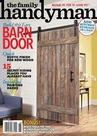 The Family Handyman June 2017 Build Barn Door Quick Rustic Finish for New Wood Ingenious Painting Hacks & The Family Handyman June 2017 Build Barn Door Quick Rustic Finish ...
